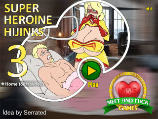MeetAndFuck mobile games Super Heroine Hijinks 3 Home for Holidays