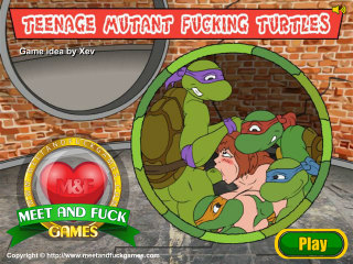 Meet N Fuck for mobile game Teenage Mutant Fucking Turtles