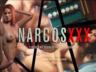 Narcos XXX gangster sex porn game