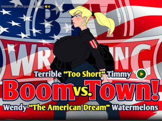 MeetAndFuck for Android game Boom Town! Watermelons Wendy vs. Timmy